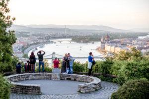 utsikt over budapest fra gellert åsen