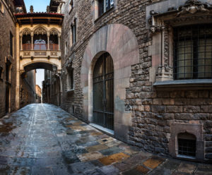 Barri Gotic distriktet i barcelona