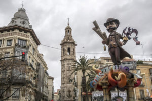 The Fallas festivalen i valencia
