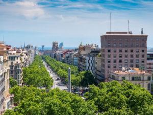 Passeig de Gracia gaten i barcelona