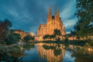 Sagrada familia kirken i barcelona
