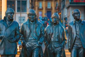 Beatles Statuen i liverpool