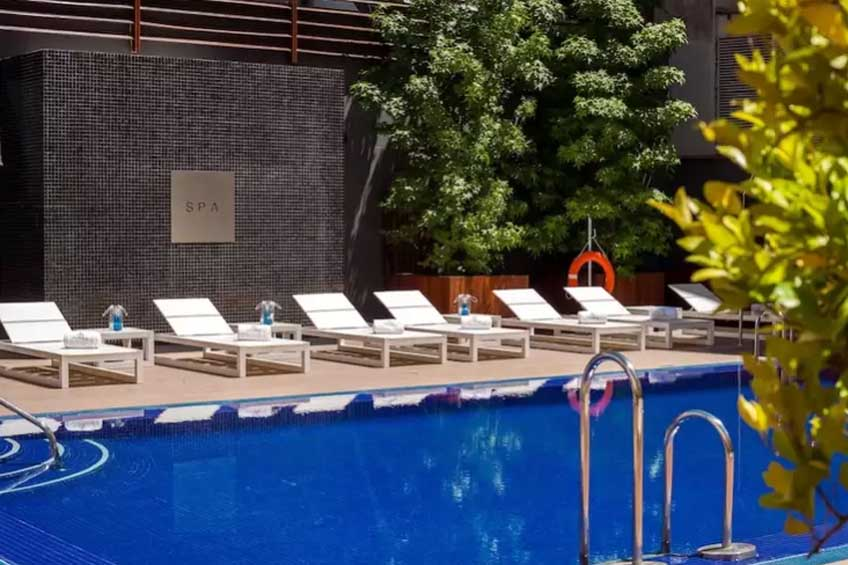flott spa-hotell i madrid