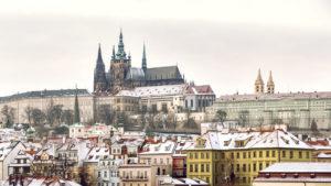 slottet i praha om vinteren